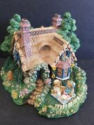 Cherished Teddies Village A Picnic For Two Sculptured Collection 1996 Very Cute