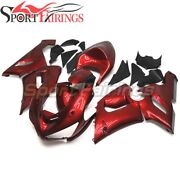 Abs Glossy Red Fairings Kit For Zx-6r 636 2005 2006 Zx6r Injection Bodywork