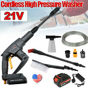 Cordless Portable Electric High Pressure Water Spray Gun Car Washer Cleaner New