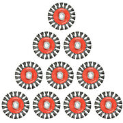 10pack 4 Inch Twist Knotted Wire Wheel Brush, Twist Wire Wheel For Grinders