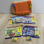 Leapfrog My First Leap Pad System Orange And Green W/ 5 Books And 3 Cartridges