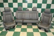09-14 F-150 Ext Cab Gray Leather Power/man Bucket Seats Backseat Tracks Bags Oem