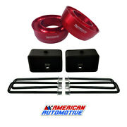 94-01 Dodge Ram 1500 Full Lift Kit 2wd 3 Red Front Spring Spacers 3 Rear Lift