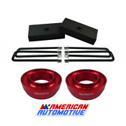 94-01 Dodge Ram 1500 Full Lift Kit 2wd 3 Red Front Spring Spacers 1 Rear Lift