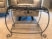 Longaberger Wrought Iron Hope Chest Side Table Stand Shelf Great To Display Bask