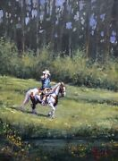 Vilem Zach Spring Ride Original Oil Painting Highly Collectible Artist Horse