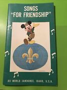 Rare 1967 12th World Jamboree Boy Scout Songs For Friendship Book Idaho Htf Xii