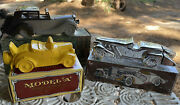 Lot Of 3 Vintage Avon Cologne And After Shave Decanter Bottles Cars Automobiles