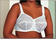 Goddess 36f Revelation White All Over Lace Underwire Cup Bra Style 106 Nwt