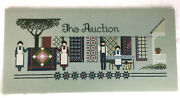 The Auction Told In A Garden Finished Cross Stitch Quilts Amish Unframed H