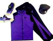Nike Kobe Bryant Track Suit Vest And Pants With Venomenons And Lakers Blackout Hat
