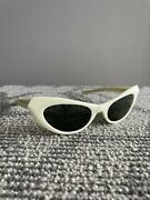 Bausch And Lomb Bandl Sunglasses Marche' Vintage Retro White