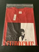 Supreme Scarface Split Tee Red X-large Brand New With Tags Fw17