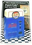 Pepsi Cola Coin Sorter Bank Collectible In Original Box And Packaging 1996 Vintage