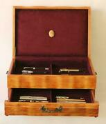 Vtg 806 Hand Crafted Fountain Pen Storage Custom Built Mahogany Display Chest