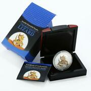 Tuvalu 1 Dollar Reamarkable Reptiles Series Thorny Devil Lizard Silver Coin 2014