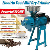 3000w Wetand Dry Electric Grain Grinder Feed/flour Crushing Machine With Funnel