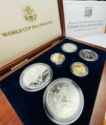 World Cup Usa 1994 Commemorative Coins With Box And Paperworks.