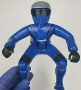 Yamaha Motorcycle Rider 8.5 Inches Tall Toy Biker Blue 1980's Vintage Plastic
