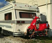 Rv Motorcycle / Scooter Trailer Single Hitch Carrier, 12v Winch, Condor Chock