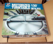 Walthers Motorized Train Turntable 130and039 W Dcc Control Box Ho Scale 933-2850 New
