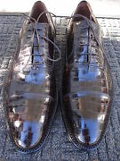 Incredible,classy, Brand New, Caporicci Brown Alligator Skin Shoe--made In Italy