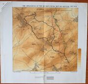 1918 Ww1 Wwi Large Map Operations Of Iii Corps Sept 19-22 Ronssoy Front Line