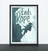 End Of My Rope Video Game Poster Gaming Gifts Sci-fi Video Game Decor Wall A