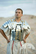 """Roman Knight Medieval Steel Polish """"cassius"""" Front Breastplate W/backpack Gift"""