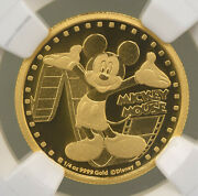 2014 Niue Disney Gold Mickey Mouse 25 Gold Coin Ngc Pf70 Ucam