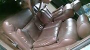 80-89 Lincoln Town Car Power Leather Interior Seat Set Front/rear Brown