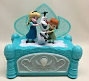 Disney Frozen Do You Want To Build A Snowman Jewelry Music Box Elsa Anna Olaf