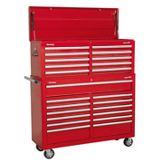 Sealey Ap52combo1 Tool Chest Combo 23 Drawer With Ball Bearing Runners Red Sws21