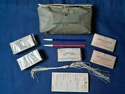 Vintage Wwii Us Office Of Civil Defense Medical First Aid Kit In Belt Pouch