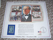 Afl Union American Federation Labor Samuel Gompers 1956 3c Labor Day Stamp Print