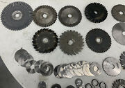 Lot Of 60new And Used Slitting Slotting Saws Assorted Sizes Made In Usa