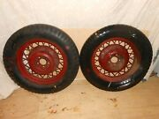 Vintage 1930and039s Chevrolet Firestone Set Of 2 Tires 5.25/5.50/17