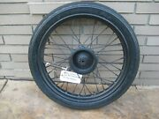 Vintage Oem Harley Hummer 165 Front Wheel Rim Hub And Spokes + F14 Tire And Axle