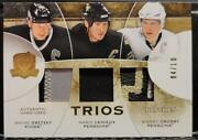 Gretzky / Lemieux / Crosby 08/09 Upper Deck The Cup Trios Patches /10