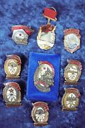 Lot Set Group 9 Soviet Russian Order Medal Badge Russia Cccp
