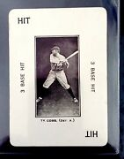 Ty Cobb 1914 Wg-4 Polo Grounds Game Ty Cobb 3 Base Hit Excellent
