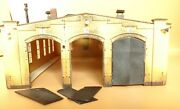 Laser Cut High-quality Saxon Boiler House, Engine Shed With 3 Stands, Aged