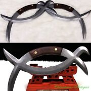 Pattern Steel Battle-axe Used In Ancient China Meridian Yuanyang Sword 3403