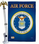 Breeze Decor Air House Flag Eagle Set Armed Forces Usaf United State American...