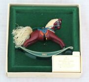 Hallmark Rocking Horse Ornament 3rd In A Collectible Series 1983
