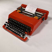 1969 Vintage Olivetti Valentine Red Typewriter Manual Portable Working With Case
