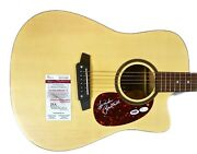 Linda Ronstadt Autographed Hand Signed Acoustic Electric Guitar Jsa And Psa/dna