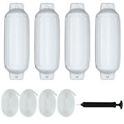 27 Boat Fenders Hand Inflatable Marine Bumper Shield Protection 4 Pack White
