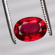 Natural Red Ruby 5.20 Carat Oval Cut Mozambique Pigeon Loose Certified Gemstone