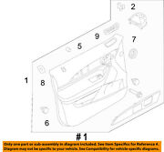 Lincoln Ford Oem 11-15 Mkx Front Door-interior Trim Panel Right Ca1z7823942ab
